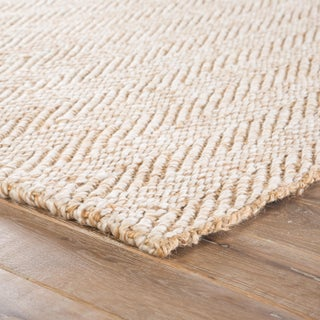 Jaipur Living Haxel Handmade Chevron Beige & White Area Rug - 2' X 3' Preview