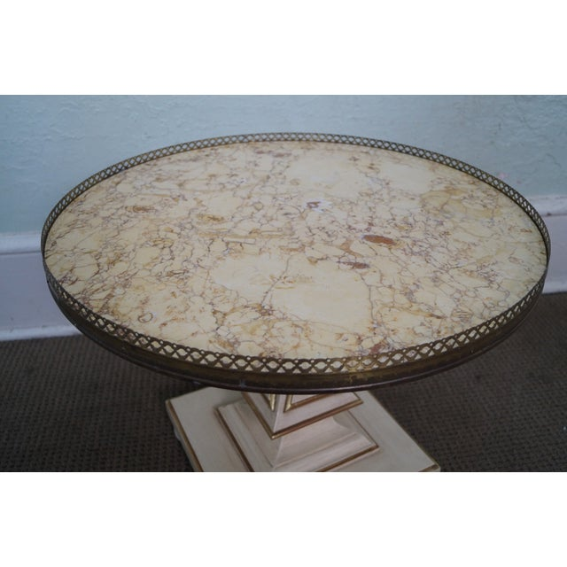John Widdicomb French-Style Marble Coffee Table - Image 3 of 10
