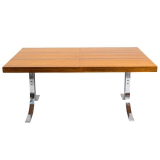 Dyrlund Dining Table With Steel Base For Sale