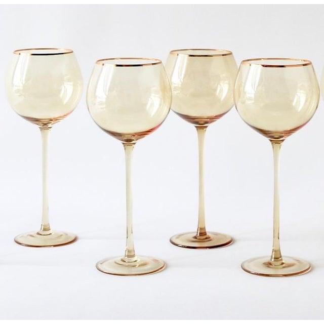 Siren Beverageware Oro + Gold White Wine - Set of 4 For Sale - Image 4 of 4