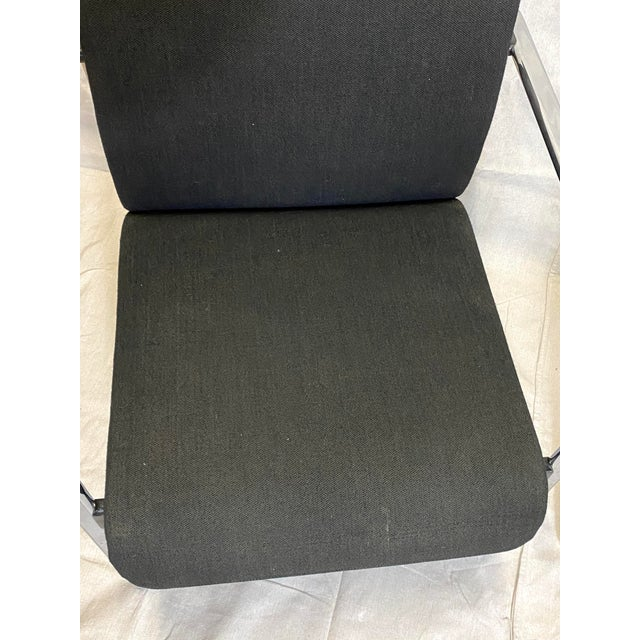 Marvelous Peter Protzman for Herman Miller Chrome Black Fabric Chairs - a Pair For Sale In New York - Image 6 of 13