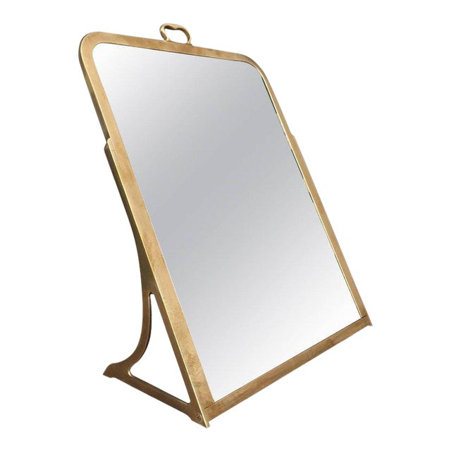 Brass Dressing Mirror Made for Shoes For Sale
