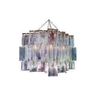 1980's Amethyst Murano Crystal Chandelier For Sale