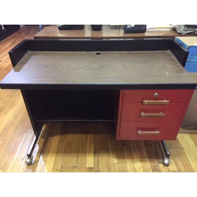 Designcraft 3 Drawer Industrial Desk - Image 3 of 6