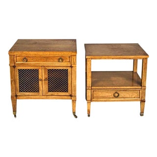 Baker Milling Nightstands - A Pair For Sale