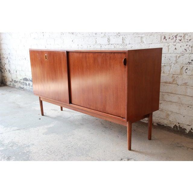 Danish Modern Danish Modern Teak Sideboard Credenza For Sale - Image 3 of 10