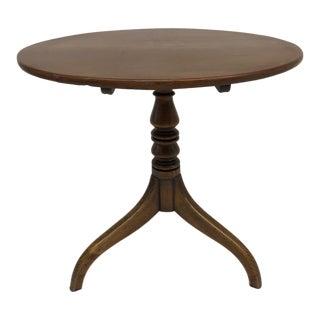 18th Century Georgian Tripod Pedestal Tea Table For Sale