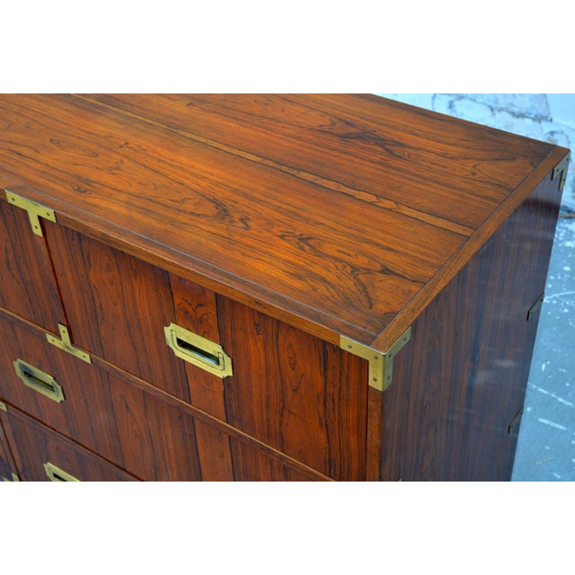 Walnut Baker Chests of Drawers - a Pair For Sale - Image 9 of 12