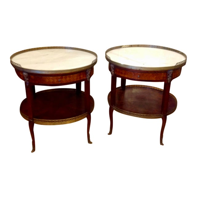 Pair of Fine French Bouillotte Tables For Sale