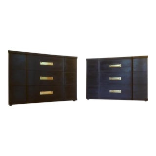 1960s Mid-Century Modern John Widdicomb Nightstands or Chests of Drawers - a Pair