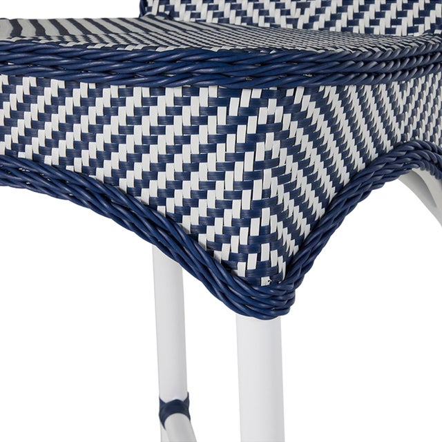 Not Yet Made - Made To Order Savoy Bar Stool in Blue For Sale - Image 5 of 6