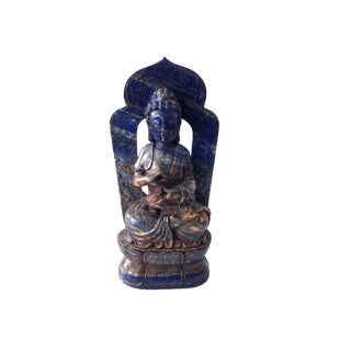 "Lapis Lazuli Stone Meditating Buddha 9.5"" H For Sale"