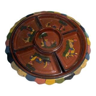 1930s Mexican Tlaquepaque Pottery Lazy Susan For Sale