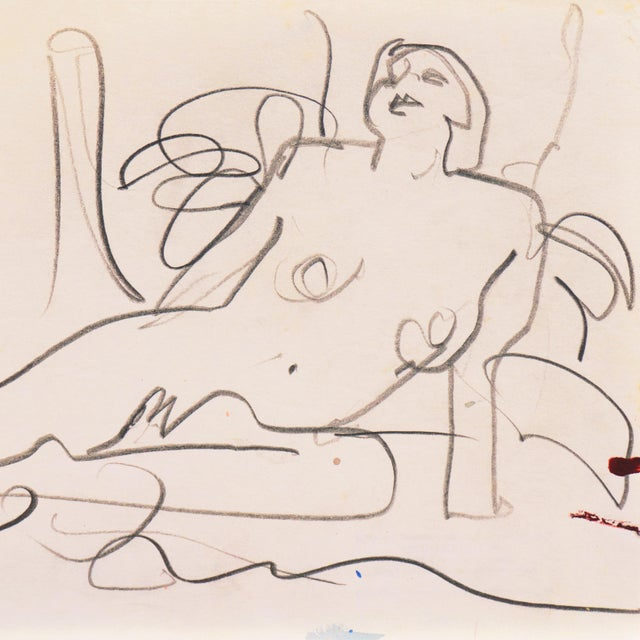 Reclining Nude' by Victor DI Gesu, California Post-Impressionist, Louvre, Paris, Carmel, Lacma, Sfaa For Sale - Image 4 of 7
