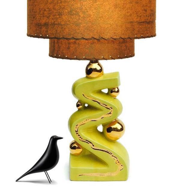 mid century modern lamp base atomic age ceramic chairish