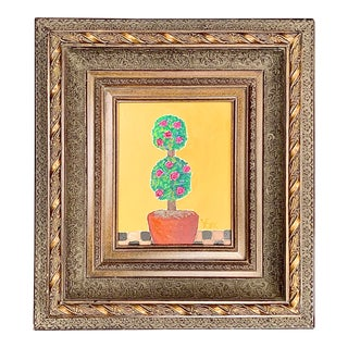 Mid Century Still Life Oil Painting by York For Sale