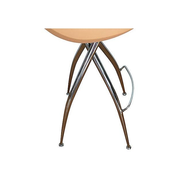 Roberto Foschia Italian Midj Bar Stools - Set of 4 For Sale - Image 5 of 8