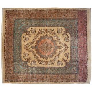 "Vintage Fine Kerman Carpet - 13'7"" X 16'2"" For Sale"