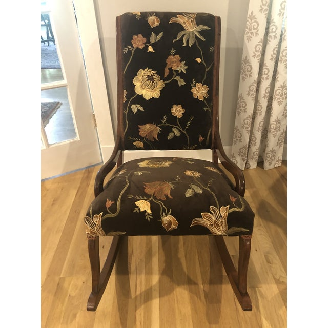 Antique Mahogany Low Arm Rocker For Sale - Image 10 of 10