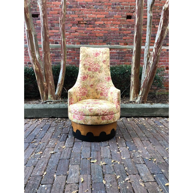 Yellow 1960s Adrian Pearsall High Back Spanish Style Chair For Sale - Image 8 of 8