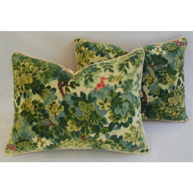 Custom-Tailored Scalamandre Velvet Marly Pillows - Pair - Image 2 of 11