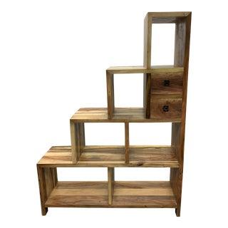 Salvage Wood Ascending Shelves For Sale