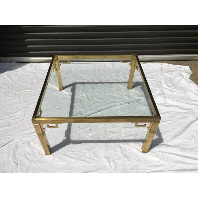 Mastercraft Mastercraft Italian Brass Coffee Table For Sale - Image 4 of 12