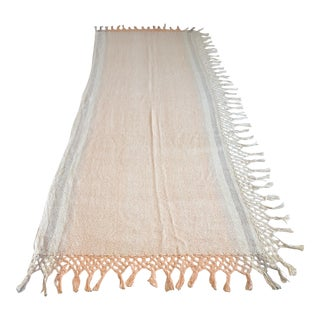Bolivian Handwoven Cotton Throw For Sale