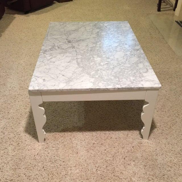 Arhaus Marble Coffee Table - Image 3 of 5