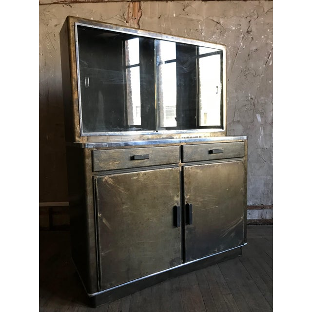 Metal Bar Cabinet For Sale - Image 9 of 9