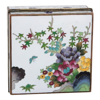 Japanese Inaba Cloisonne Box For Sale