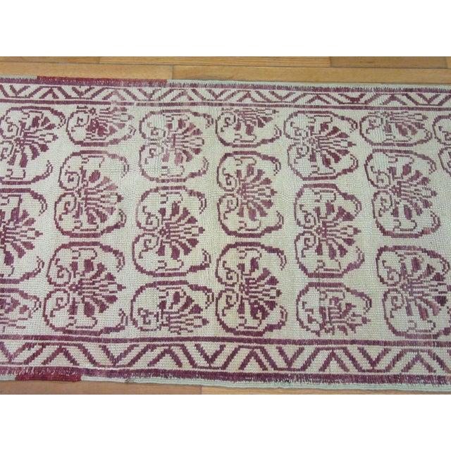 Vintage Handmade Wool Turkish Anatolian Rug For Sale - Image 4 of 7