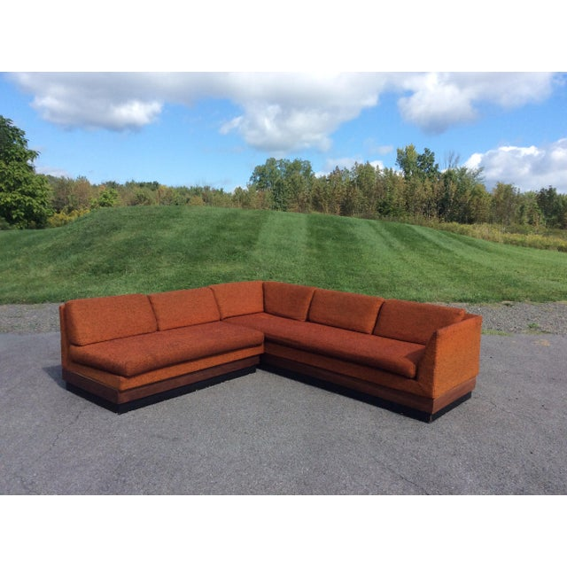 Orange Adrian Pearsall Sectional Sofa Craft Associates For Sale - Image 8 of 11