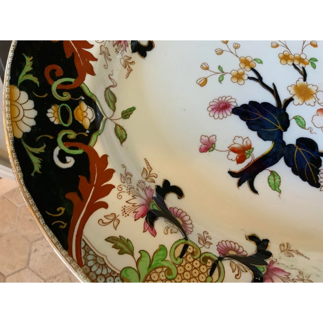 Early 20th Century English Royal Doulton Matsumai Hand Painted Serving Platter For Sale - Image 6 of 11