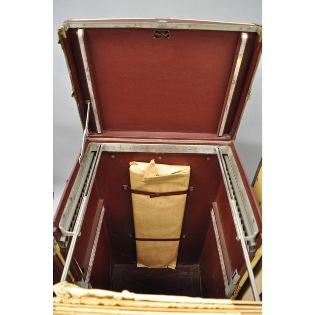 1930s 1930s Traditional Oshkosh the Chief Wardrobe Steamer Trunk For Sale - Image 5 of 13