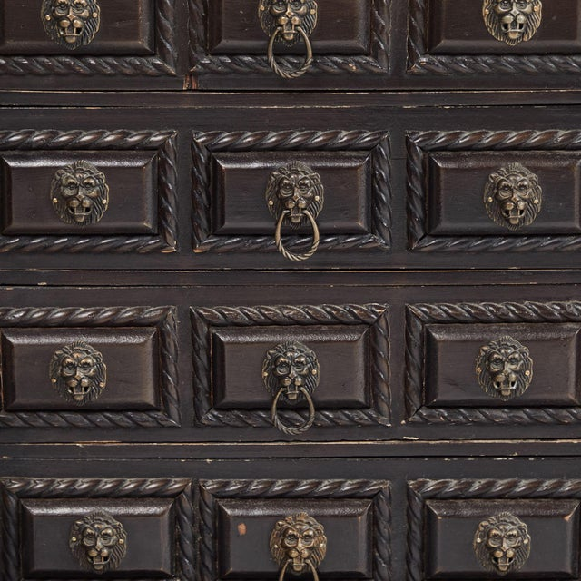 Traditional Early 20th Century Tabletop Chest of Drawers from Portugal For Sale - Image 3 of 5