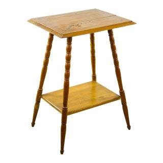 Vintage American Rustic Pine Occasional Table For Sale