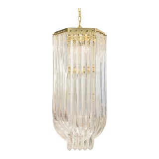 Lucite Ribbon Chandelier
