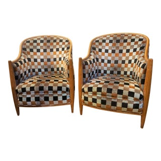 Art Deco Bergere Chairs - a Pair For Sale