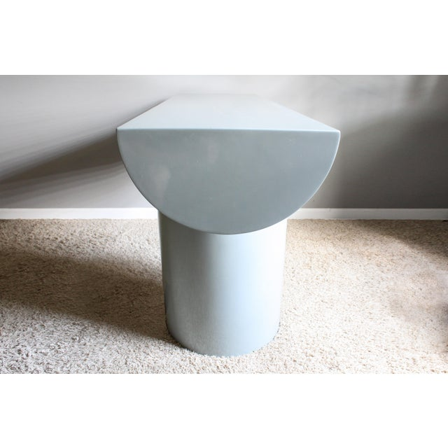 """1970s Space Age Gray Lacquered J. Wade Beam """"Tee"""" Console Table for Brueton For Sale - Image 5 of 13"""