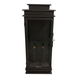Rustic Tall Ef Chapman Wall Lantern For Sale
