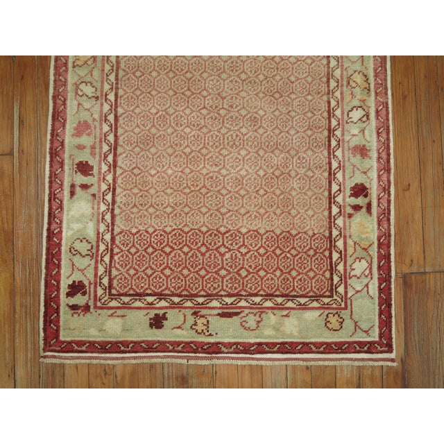 American Antique Turkish Anatolian Runner Rug- 2'9'' X 9'3'' For Sale - Image 3 of 7