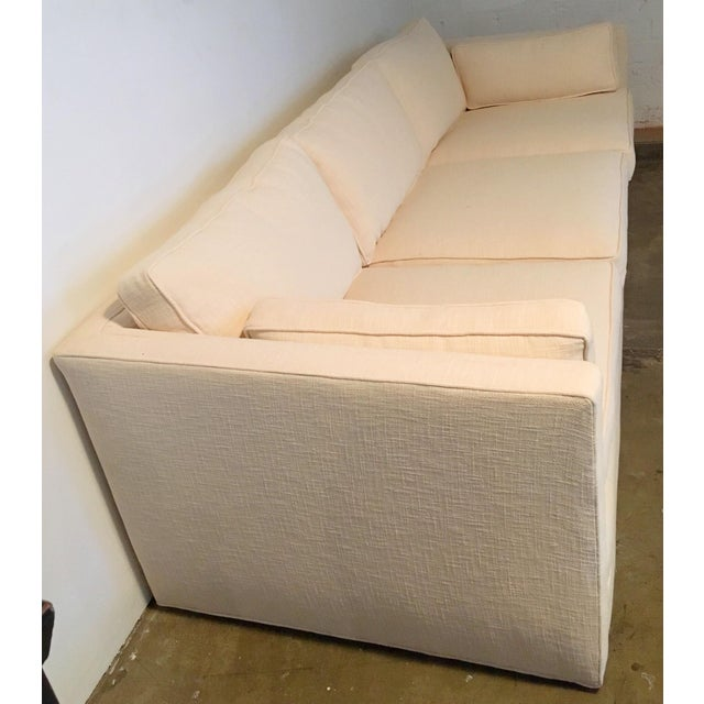 Knoll Tuxedo Linen Sofa - Image 5 of 10