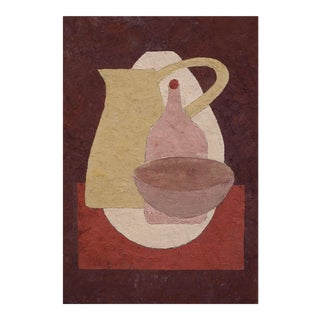 """Enni Contemporary """"Red Tea Towel"""" Mixed Media Still Life Painting For Sale"""