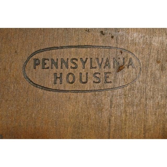 Pennsylvania House Solid Cherry Fiddleback Duxbury Windsor Arm Chair For Sale - Image 9 of 12