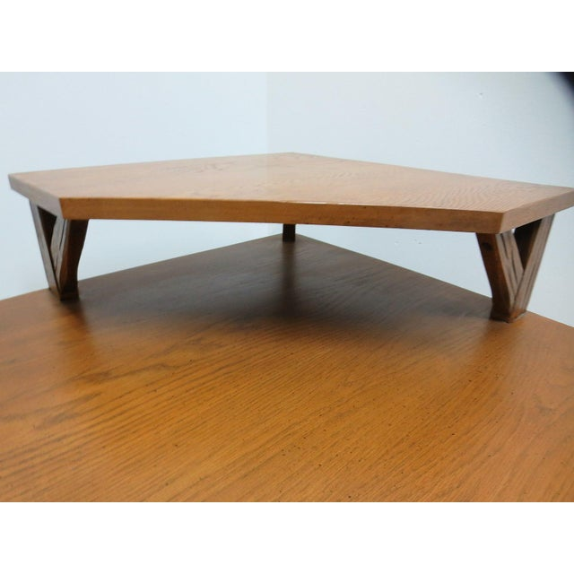 Rustic Brandt Ranch Oak End Table For Sale - Image 3 of 11