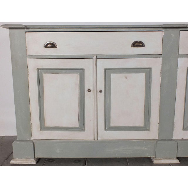 1970's French Country Painted Buffet - Image 7 of 10