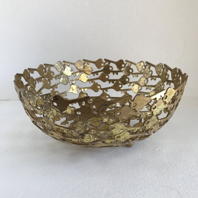 Groovy Metal Key Decor Bowl For Sale - Image 9 of 9