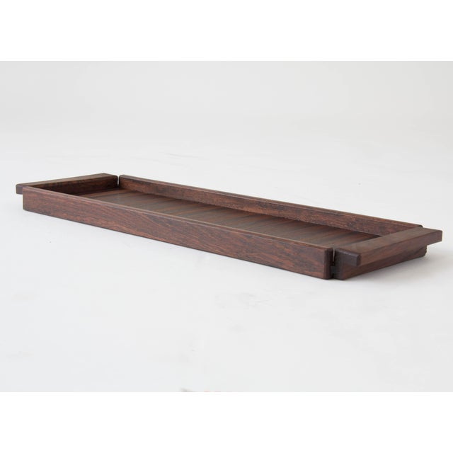 Rosewood Tray with Precious Woods Inlay by Don Shoemaker - Image 4 of 6