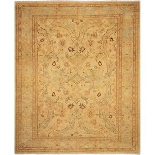 Peshawar Shonna Ivory/Blue Wool Rug - 12'6 X 15'8
